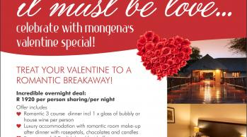 Mongena Game Lodge Valentines February 2018 Special
